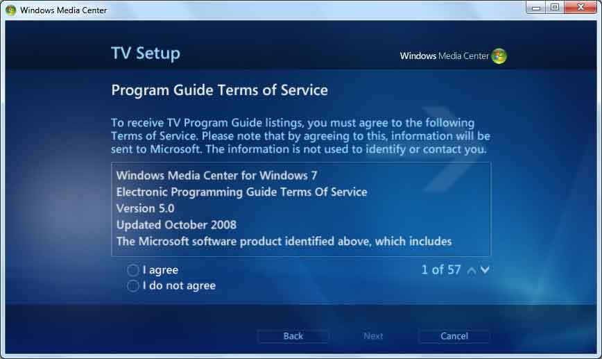Windows 7 Microsoft Media Center