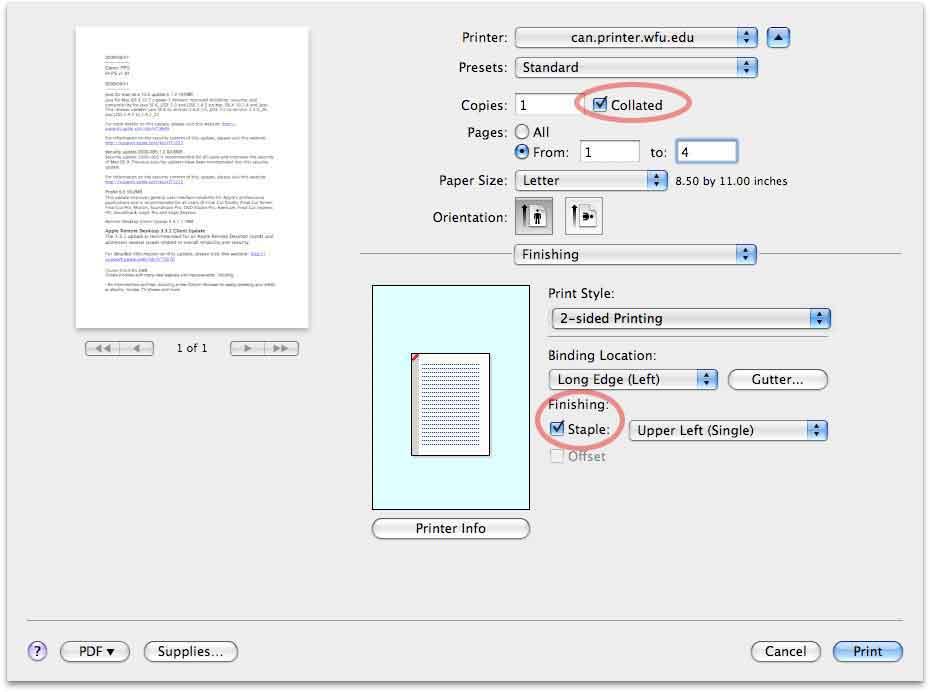 Canon Imagerunner OS X printing